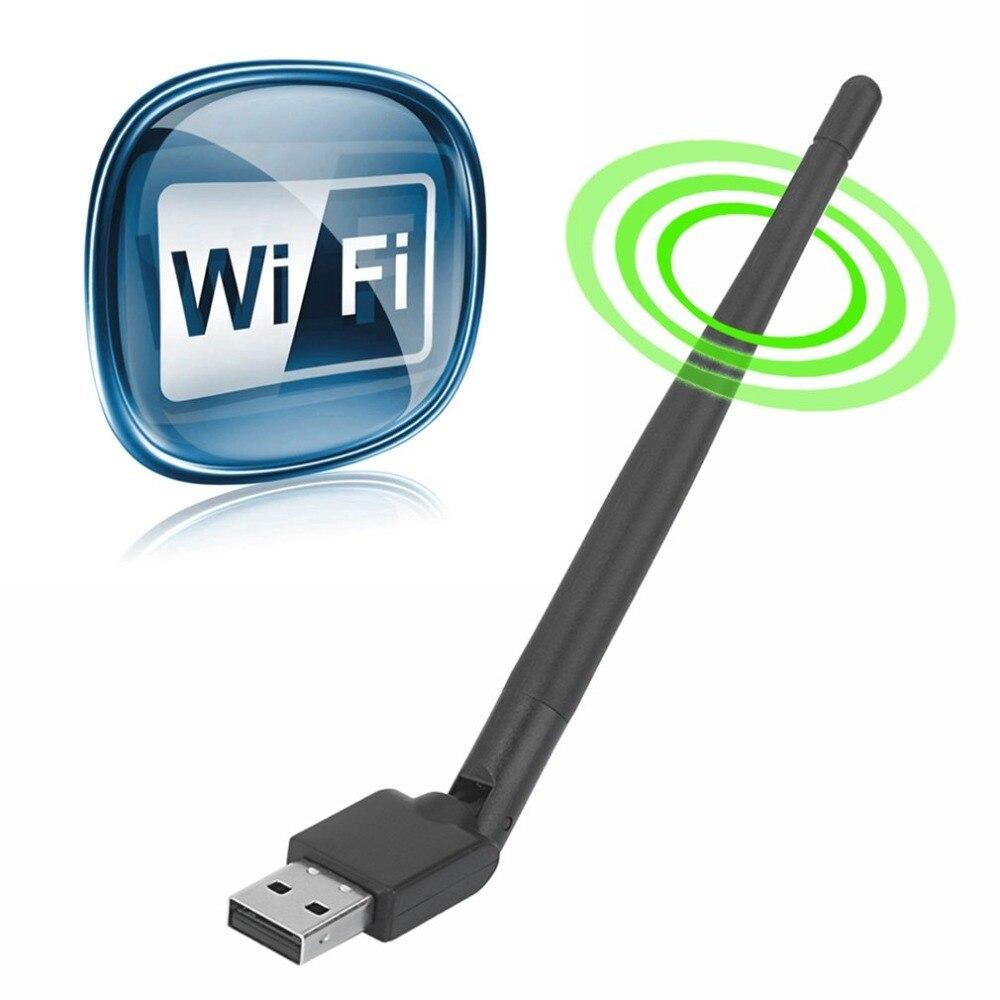 USB 2,0 WiFi tarjeta de red inalámbrica 150M 802,11 b/g/n adaptador LAN con antena giratoria para Laptop PC Mini Wi-fi Dongle