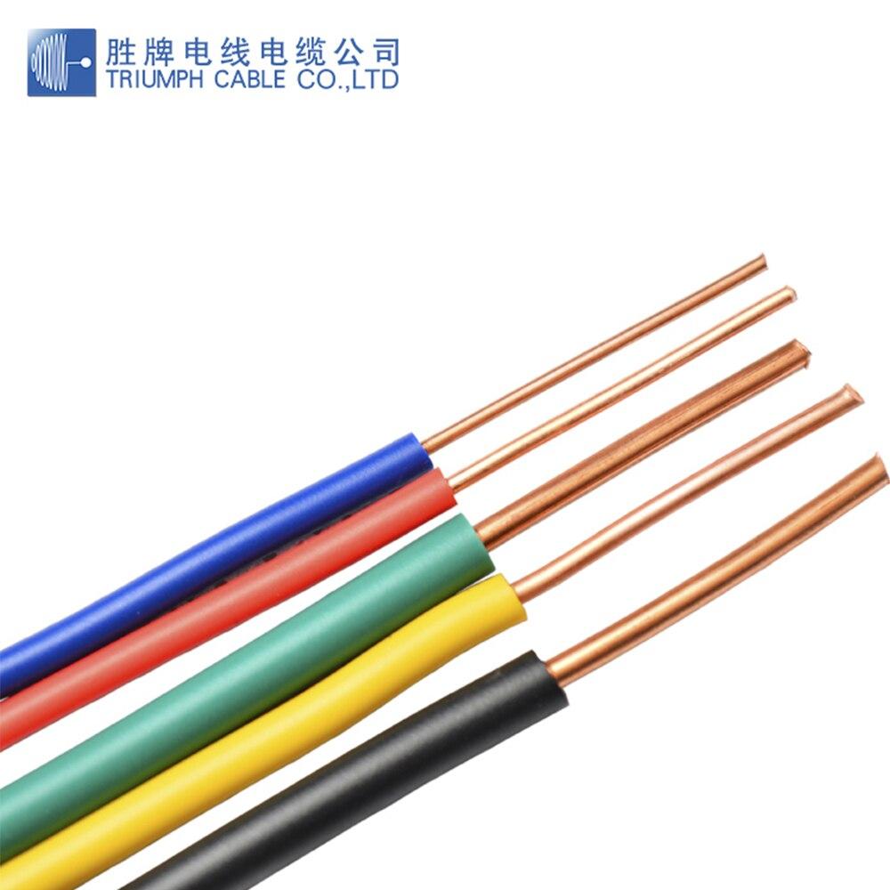 Triumphcable PVC jacket BV-cable sin revestimiento de un solo núcleo, 1,5mm-6,0mm, con...