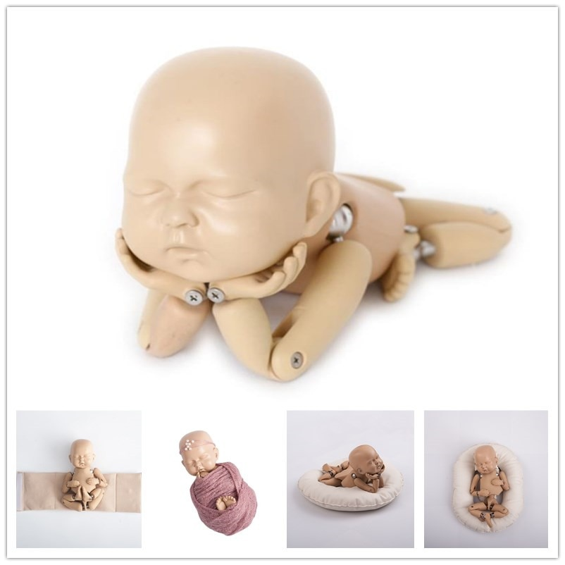 Newborn  Photography Props Babies Photo Accessories Newborn Posing Doll Simulation Training Model