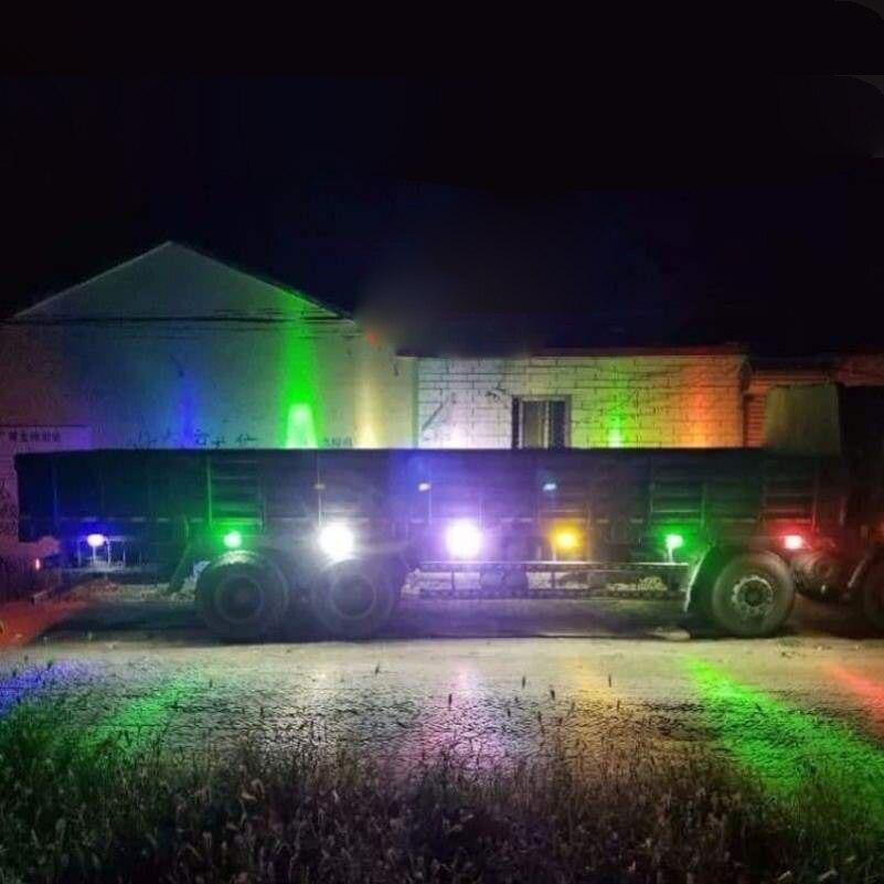 6 LED Flashing Light Flash Emergency Warning Light 12V-24V for Car Auto Truck SUV Motorcycle Side 18 Strobe Modes Bright Lamp