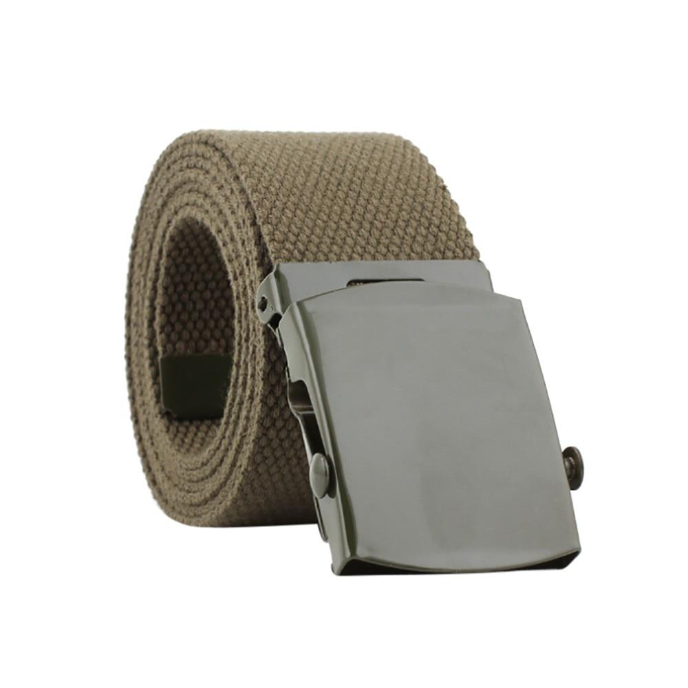 Nuevo estilo de moda novedosa, hebilla automática de cinturón de nailon sólido para hombres y mujeres, accesorios de cinturón de lona para adultos