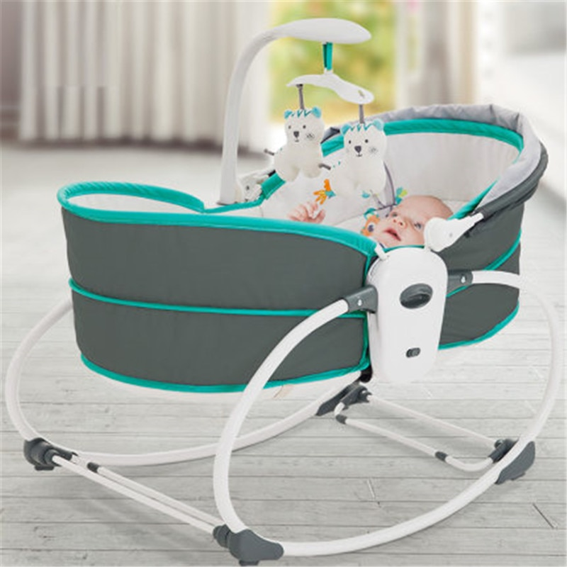 Baby Electric Baby Shaker Vibration Rocking Chair Smart Bed Middle Bed Recliner Automatic Comfort Chair Basket Cradle