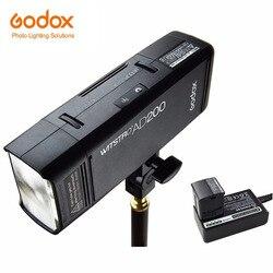 Godox ad200 ttl 2.4g hss 1/8000s bolso flash luz dupla cabeça 200ws com 2900mah bateria de lítio lanterna flash iluminação