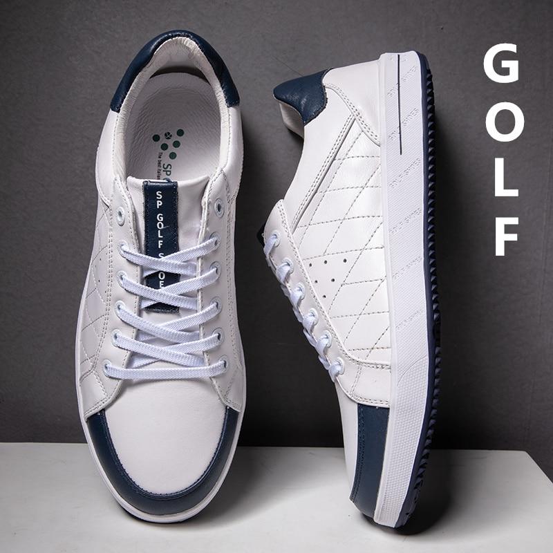 أحذية الجولف الجلدية للرجال ، أحذية رياضية خارجية مقاومة للماء وغير قابلة للانزلاق