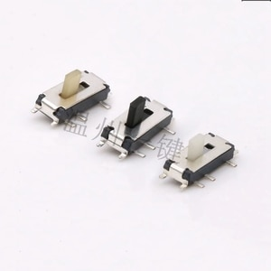 100pcs MST-12C01-07 vertical patch small toggle switch 7 pins 2 grade mini power switchs