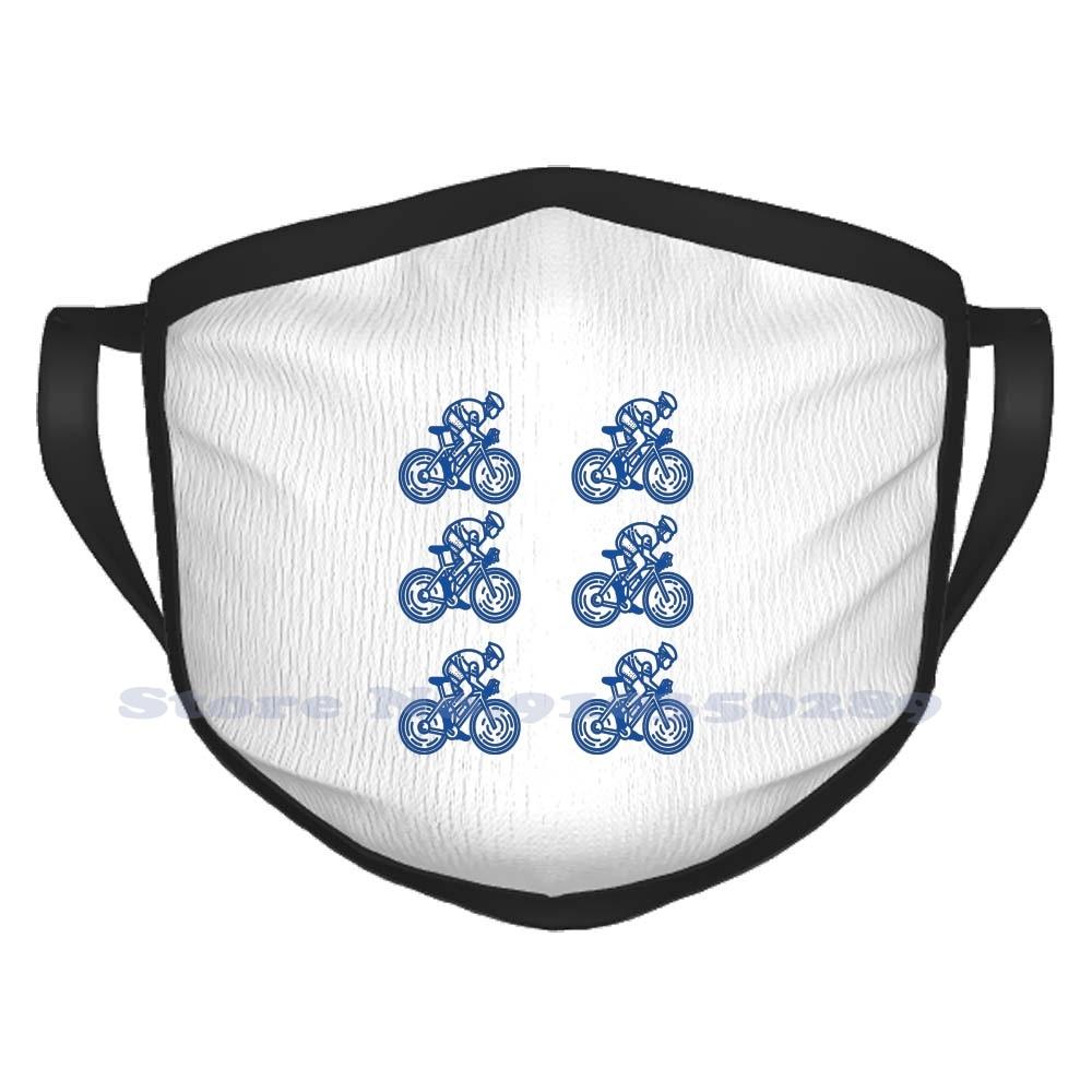 Mascarilla de algodón para mujer, cubrebocas divertido de invierno, Ag2R, Astana, Quickstep,...