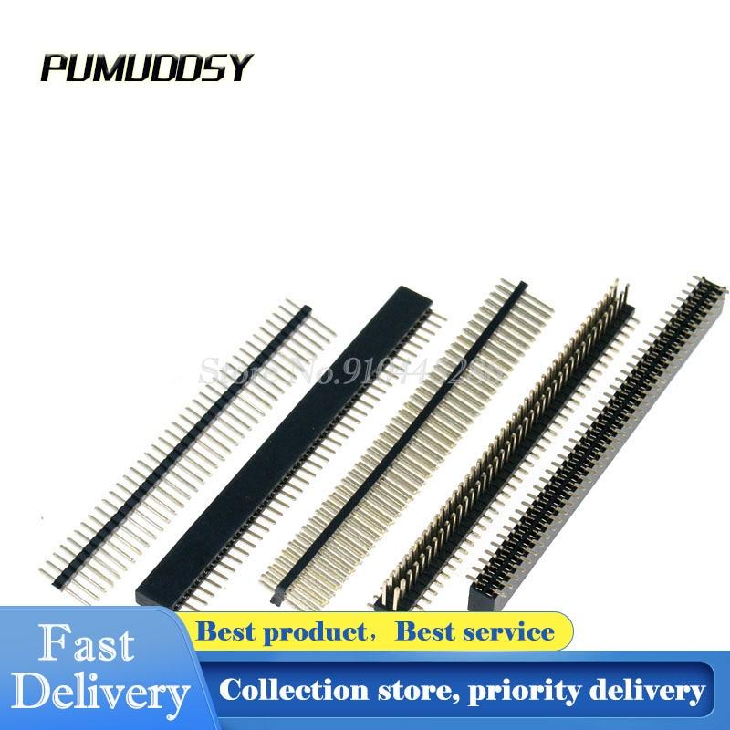 5PCS/LOT 1*40 1.27mm 40 Pin Female Single Row Pin Header Strip 1X40P