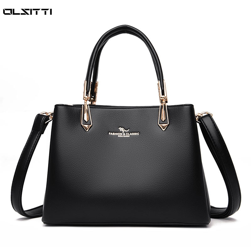 High Quality Leather Shoulder Bags for Women 2021 New Large Capacity Women's Handbags Luxury Simple