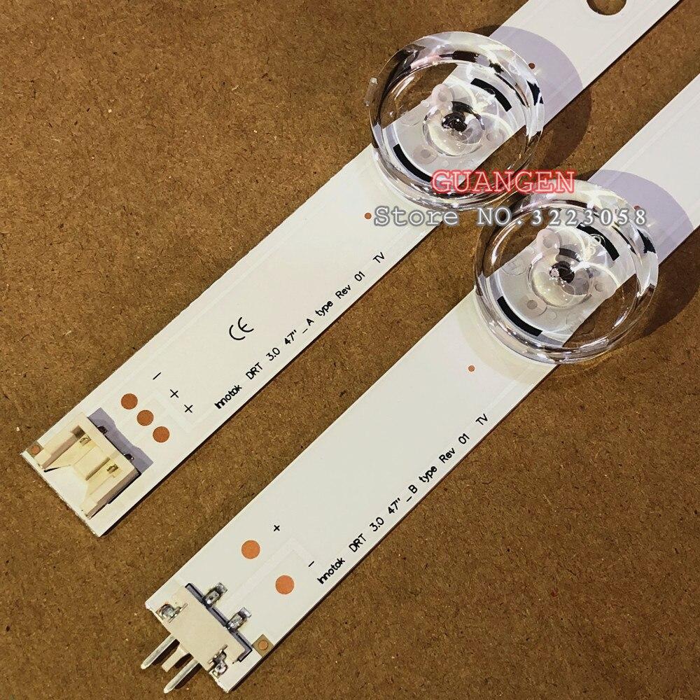 "5 conjuntos = 40 pces led backlight strip para lg 47 ""tv innotek drt 3.0 47"" 47lb6300 47gb652v 47lb652v lc470duh 47lb5610 47lb565v"