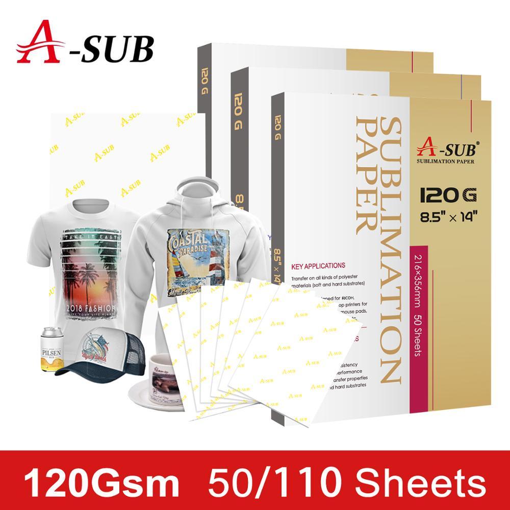 Papel de sublimación 50/110 hojas 120g para cualquier impresora de inyección de tinta con tinta de sublimación