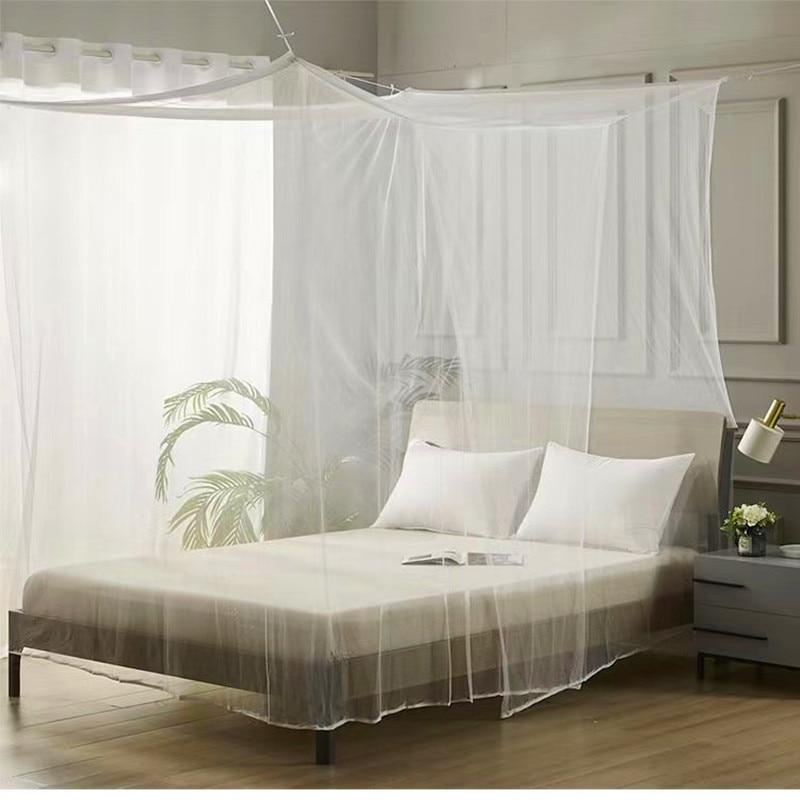 Installation-free mosquito net dust square roof domestic outdoor double single door heightening and enlarging children's room