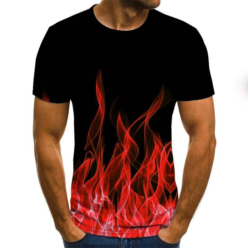Фото - Новинка 2021, Мужская футболка с рисунком пламени Chromati, 3d футболка, черная футболка, Повседневная футболка, аниме футболка, уличная одежда, фут... футболка pavesa pavesa mp002xw0r2as