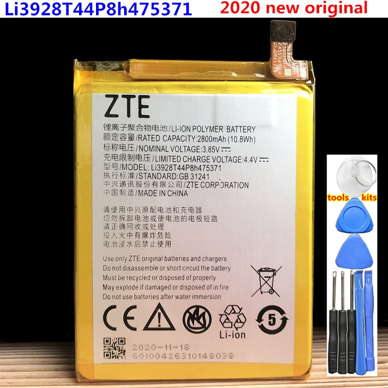 Original 2800mAh Li3928T44P8h475371 Battery For ZTE Blade A1 C880 C880A C880S AXON Mini B2015 B2016 Xiaoxian3 V8 Mini Batteries