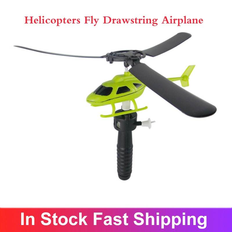 Kids Educational Toys Pull Wires RC Helicopters Fly Drawstring Airplane Children Gifts Outdoor Game