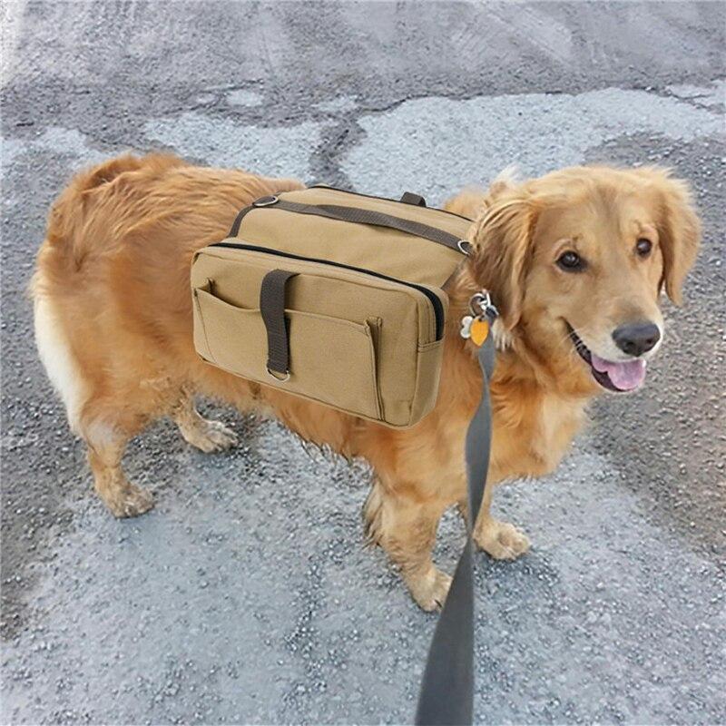 Bolsa de Transporte Bolsa para Médio Cão de Estimação Lona Pacote Viagem Caminhadas Mochila Sela Grande Portador Cão