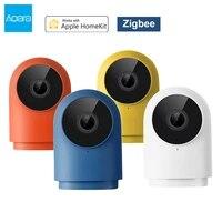 Aqara     camera intelligente Zigbee G2H HD 1080P  grand Angle 140     Webcam de securite domestique  Vision nocturne IR  pour Apple Homekit