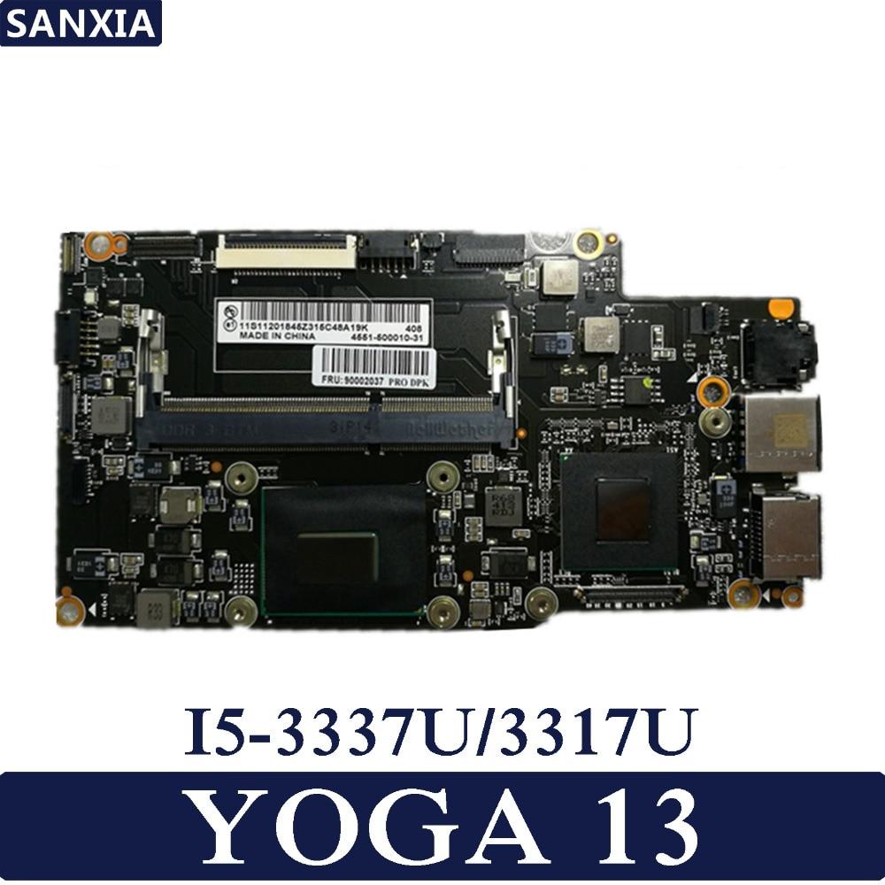KEFU اللوحة الأم للكمبيوتر المحمول لينوفو YOGA13 اليوغا اختبار اللوحة الرئيسية الأصلية I5-3337U/3317U
