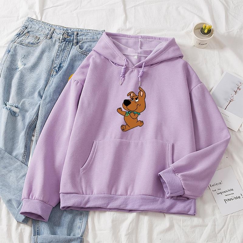 Oversized Cute Dog Print Sweatshirt Kawaii Hoodies for Women Clothes Hoody Female Itself Winter Womens Cotton Hoodie Full Sleeve