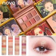 NOVO 8 Farbe Märchenland Galaxy Glitter Matte Lidschatten Wasserdicht Lang anhaltende Lidschatten-palette Nackt Make-Up lidschatten Schönheit Koreanischen Stil