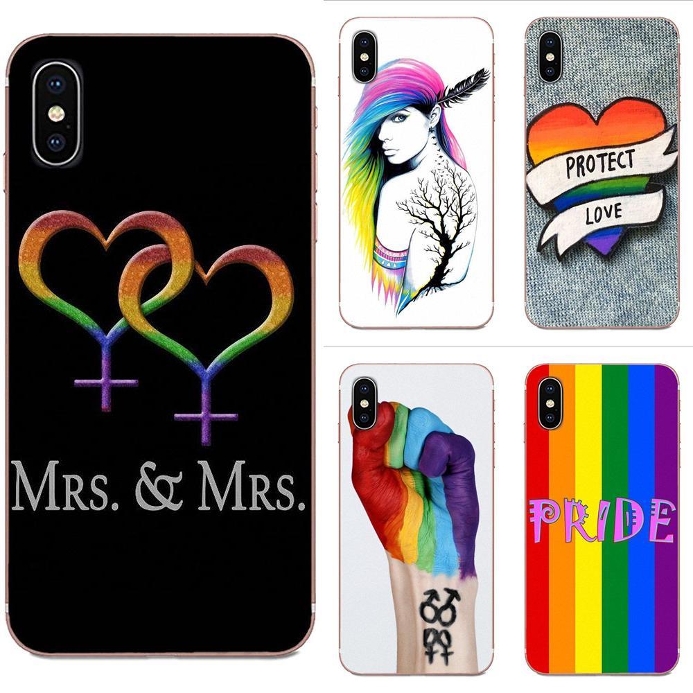 Lesbiana Gay del arco iris Lgbt orgullo arte caso de moda para Huawei P7 P8 P9 P10 P20 P30 Lite Mini Plus Pro Y9 primer P Smart Z 2018 de 2019