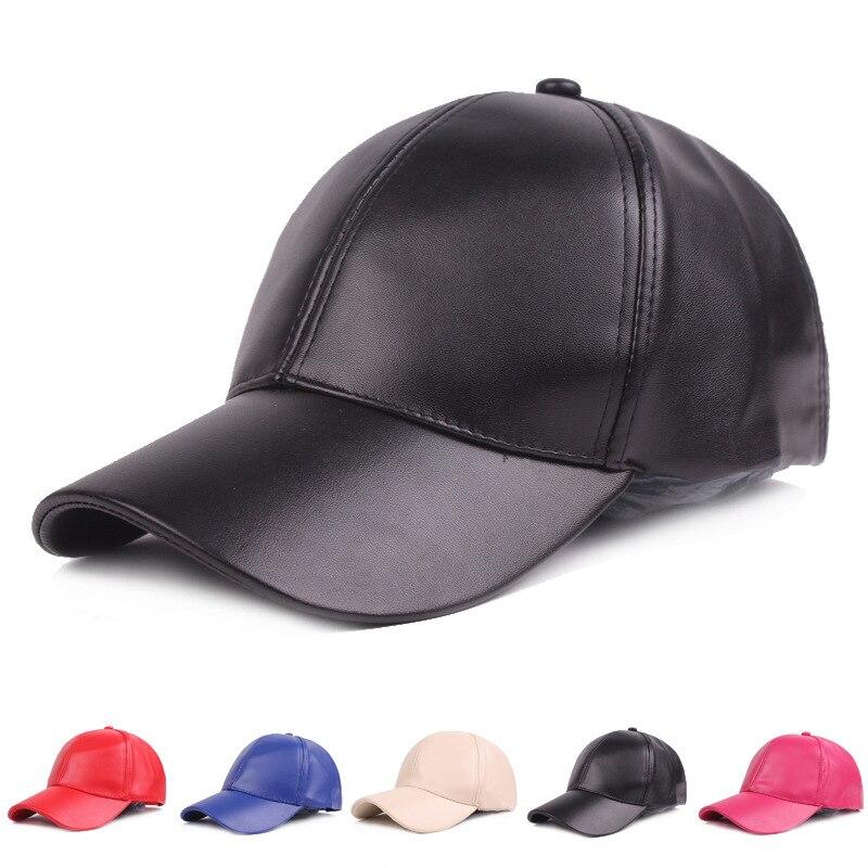 Бейсболки, кожаные кепки, стильные однотонные мужские кожаные кепки