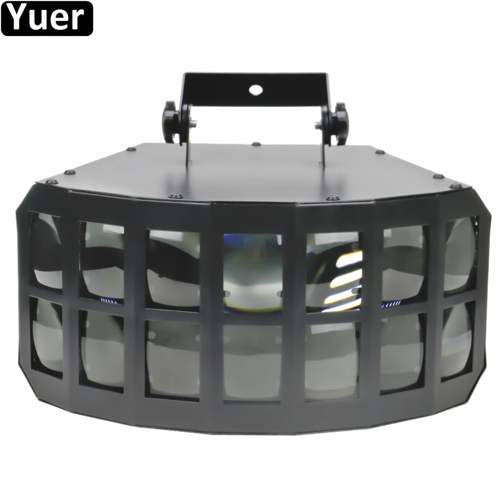 New LED 2x15W RGBW 4IN1 Double Layer Stage Downlight DMX512 Lot Of Beam Effect DJ Disco Light Wedding Homeparty KTV Effect Light