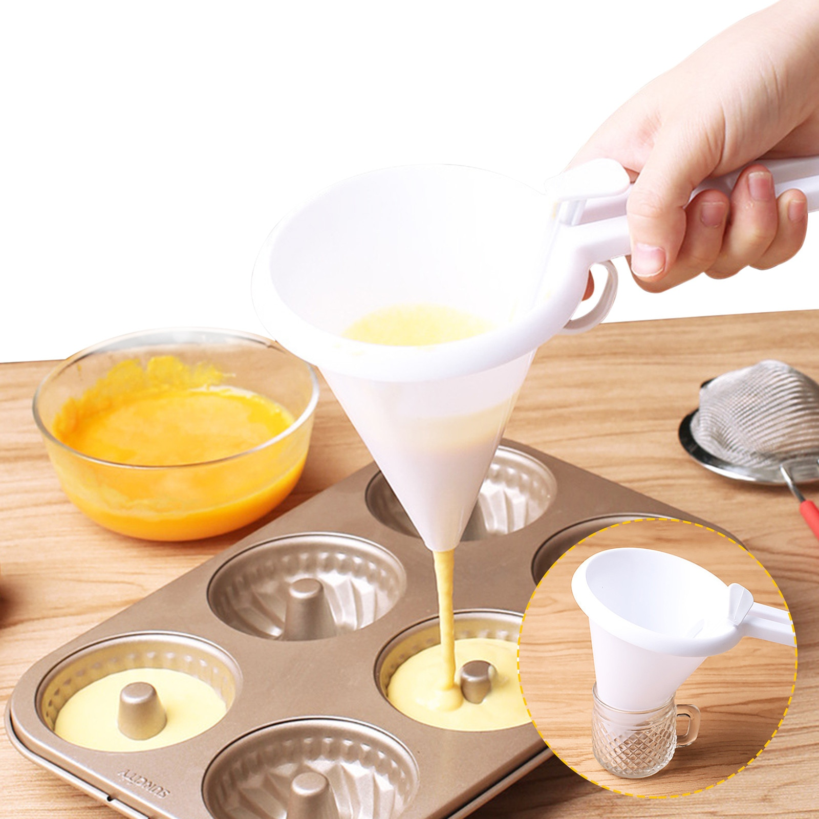 Фото - Adjustable Butter Cream Portion Funnel Handheld Butter Frosting Dispenser Cake Baking Tool Mold Kitchen Baking Tools Funnel too faced butter cream