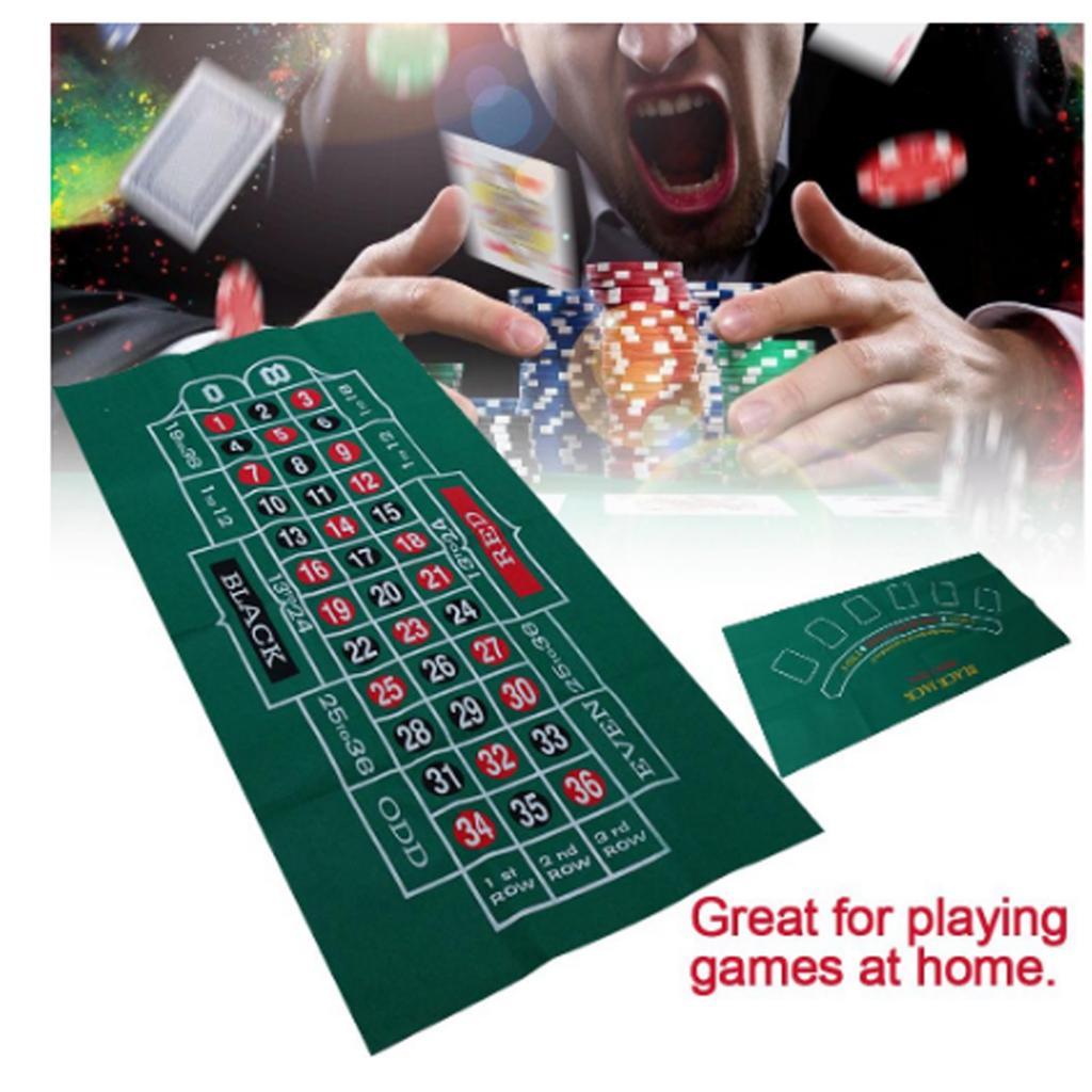 Topo de Pano Mesa de Mesa Toalha de Mesa Double Cobertura Dupla Face Sentiu Esteira Roleta Casino Jogando Feltro Acessórios 24 x 47