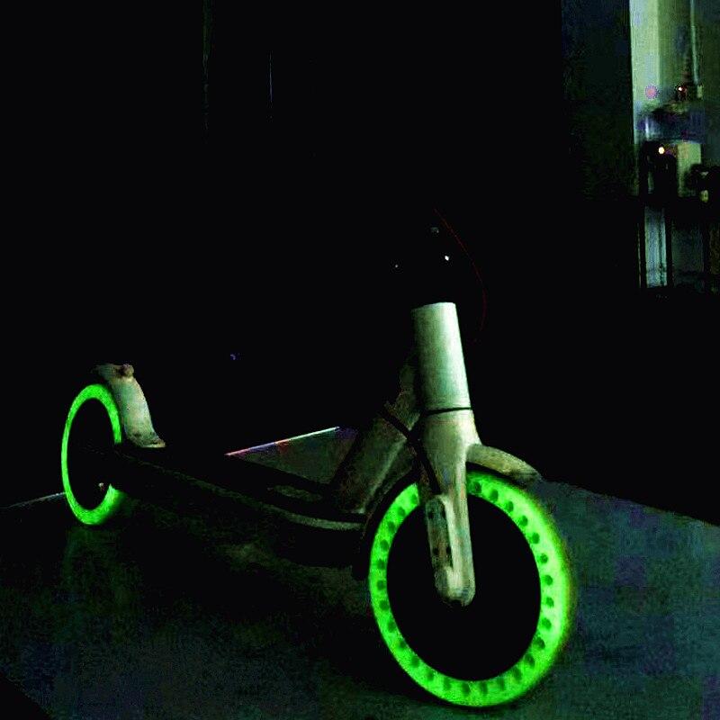 Флуоресцентные ночные шины для скутеров Xiaomi Mijia M365, светящийся амортизатор, Электрический скутер, скейтборд, твердые шины, 8,5 дюйма