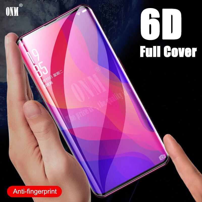Vidrio Templado 6D para Oppo Find X película protectora de pantalla curvada completa para Oppo Find X vidrio Protector Premium