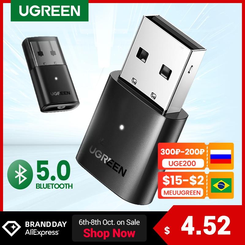 UGREEN USB Bluetooth 5.0 nadajnik-odbiornik 4.0 Adapter Dongle aptx bezprzewodowe słuchawki PC muzyka Audio Bluetooth 5.0 Adapter