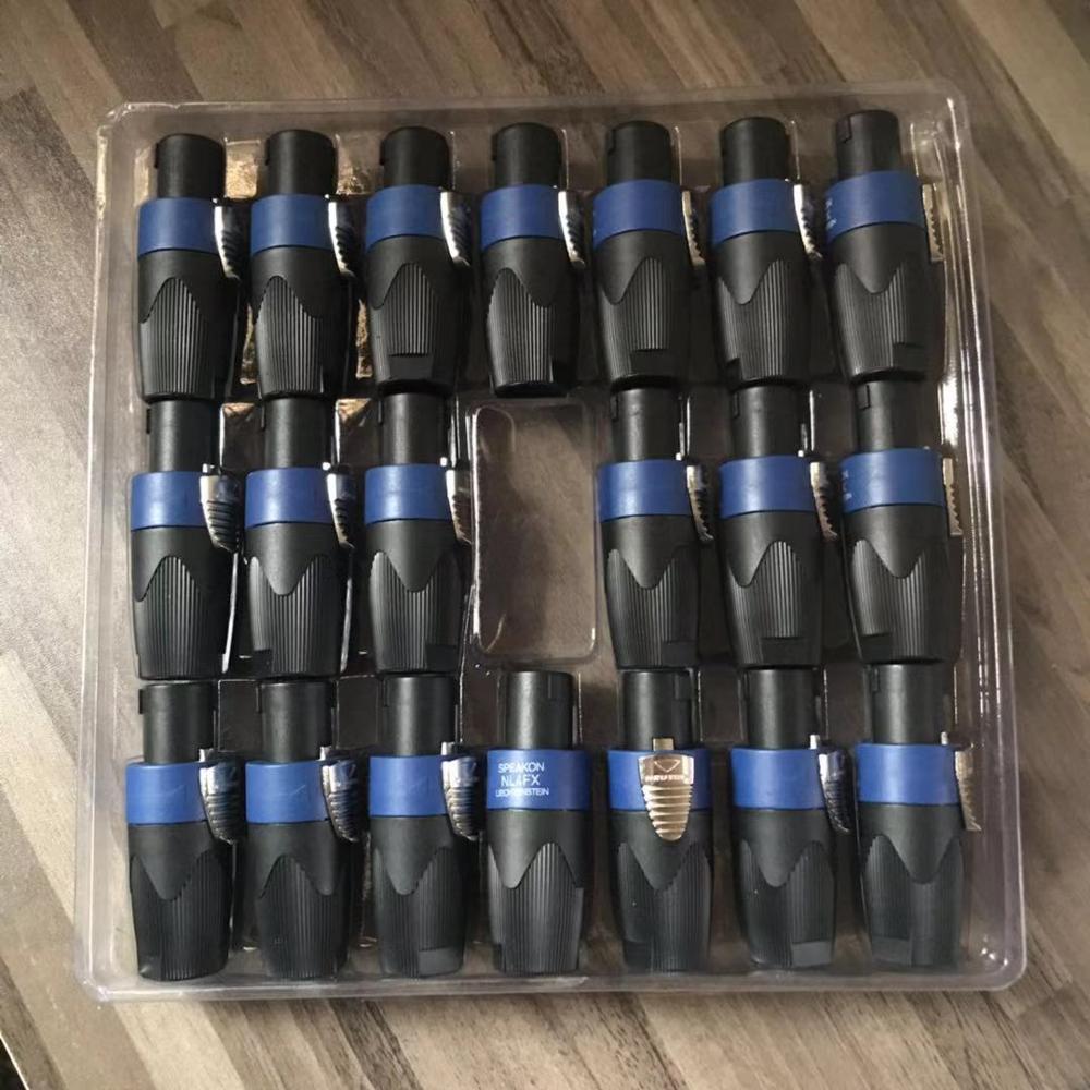 20 unids/lote uso para Neutrik NL4FC profesional de 4 núcleos Speakon Conector de altavoz