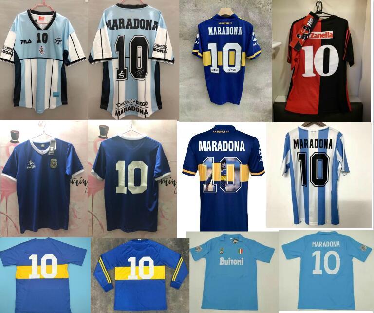 1993 newells velhos meninos 2001 maradona 10 87-88 nápoles vintage 1986 maradona 10 1981 boca juventude maradona 10