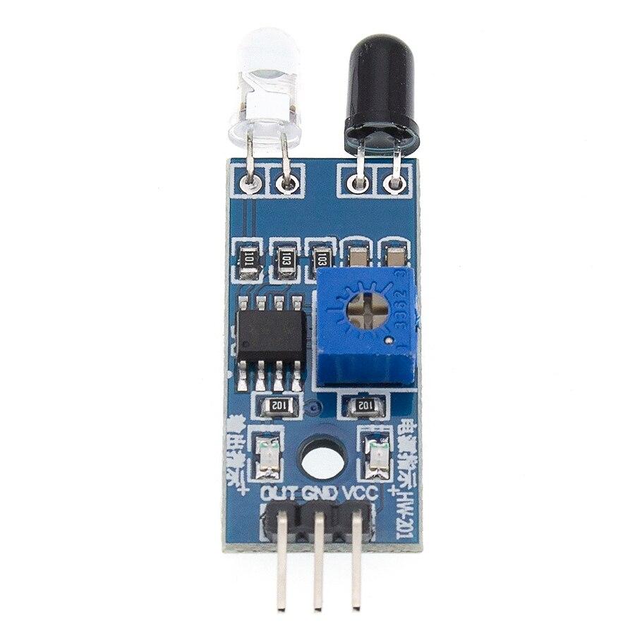 100 sztuk na podczerwień czujnik unikania przeszkód moduł samochód zdalnie sterowany 3-przewodowy odblaskowy fotoelektryczny