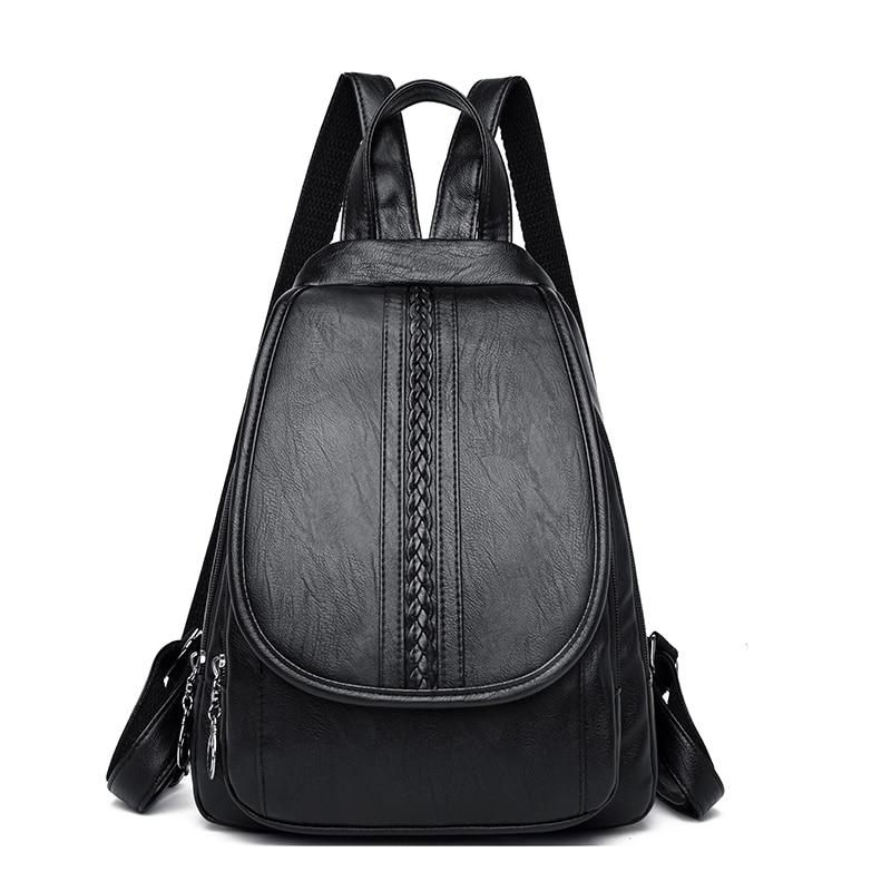 2021 роскошные женские кожаные рюкзаки Sac A Dos, одноцветные женские дорожные рюкзаки, женские кожаные сумки, женская сумка для женщин, Новинка