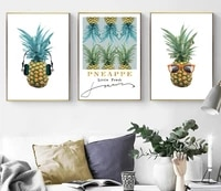 tropical decoration pictures scandinavian pineapple poster prints fruit wall art canvas painting modern room decoration
