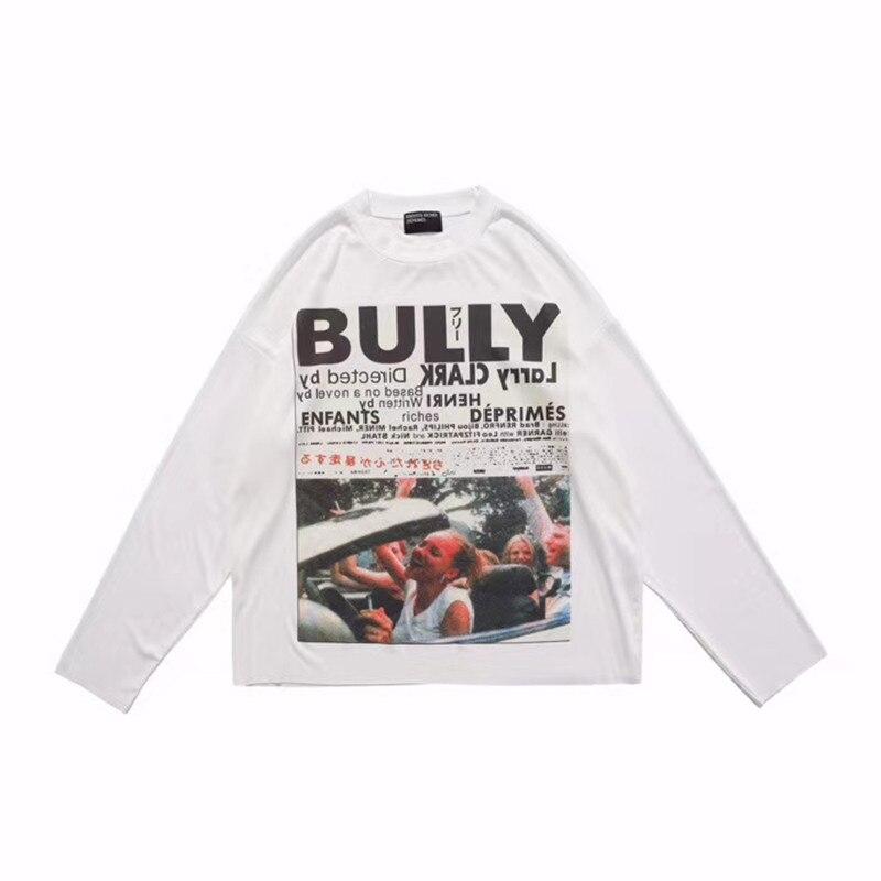 Impresión de cartel Raw Edge ERD Camiseta de manga larga para hombres y mujeres 11 camiseta blanca Casual suelta E.R.D Vintage camiseta
