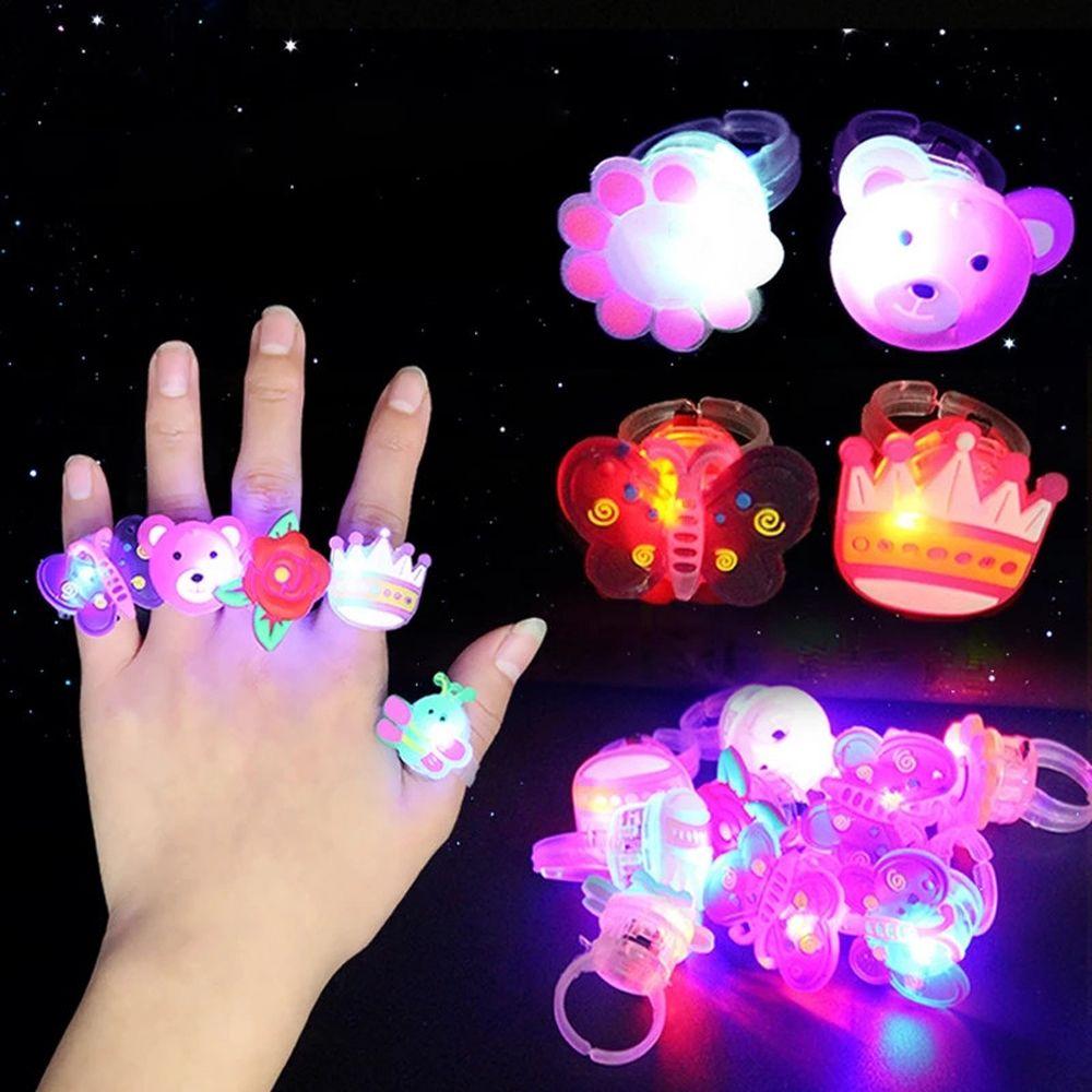 5 шт./компл., детские игрушки, светящиеся кольца, звезды, светящиеся в темноте, детские игрушки, светящиеся Мультяшные огни, светящиеся в темн...