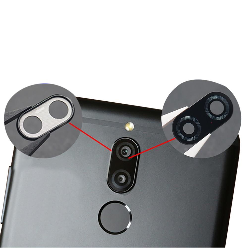 Para Huawei Mate 10 Lite, repuesto de lente de cristal para cámara trasera negra, accesorios