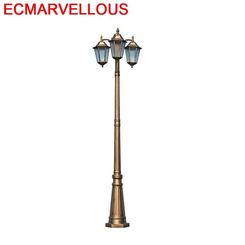 Straatverlichting lampe de jardin carré Farola Luminaire Exterieur Lampione Plaza LED hors route Lampa Uliczna lampadaire