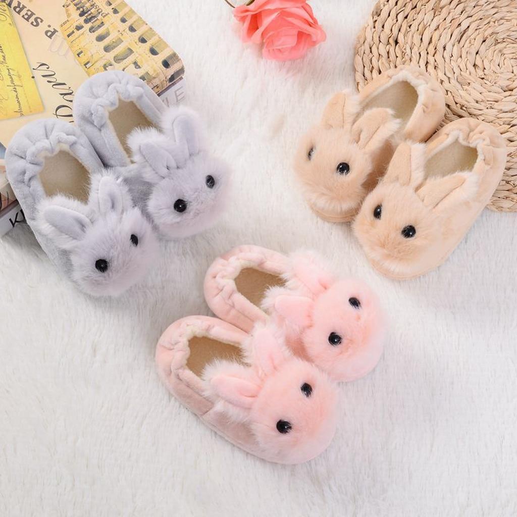 Zapatos cálidos de invierno para niños y bebés, zapatillas sólidas de suela...