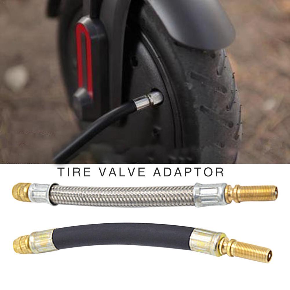 Manguera trenzada de acero inoxidable Flexible para ruedas de coche, válvula de neumático, tallos de extensión, adaptador de tubo para patinete eléctrico Xiaomi M365