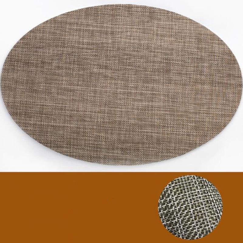 Mantel Individual De lino y algodón para mesa Tapete De lino y...