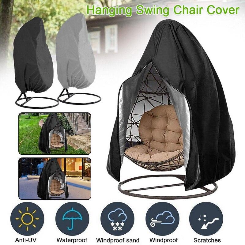 Nueva funda impermeable para silla de Patio, cubierta colgante de huevo para silla columpio, Protector de polvo con cremallera, funda protectora para silla de huevo para exterior