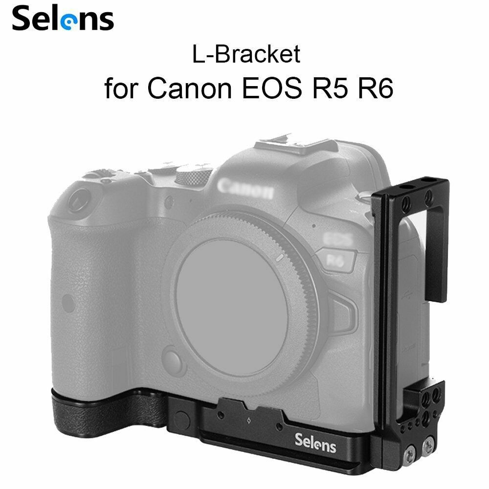 Selens كاميرا L-قوس لكانون EOS R5 و R6 مع Arca-Type 1/4