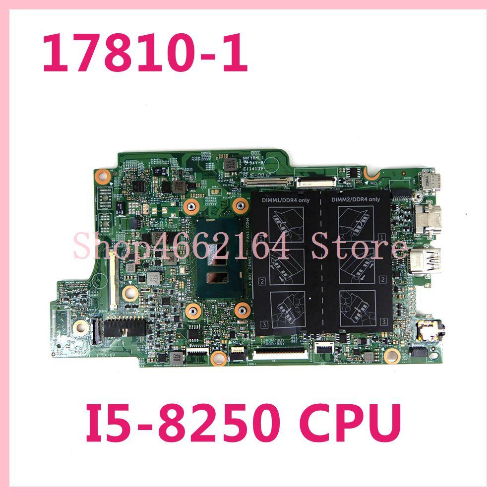 CN 00KJ0J/0K3GFH 17810-1 I5-8250 وحدة المعالجة المركزية اللوحة الرئيسية لديل انسبايرون 13-5379 15-5579 17810-1 اللوحة الأم للكمبيوتر المحمول اختبار العمل بشكل جيد