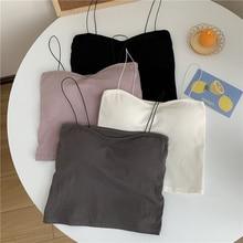 White Strapless Underwear Suspender Vest Women's Autumn Wear Beautiful Back Belt Cushion Outside and