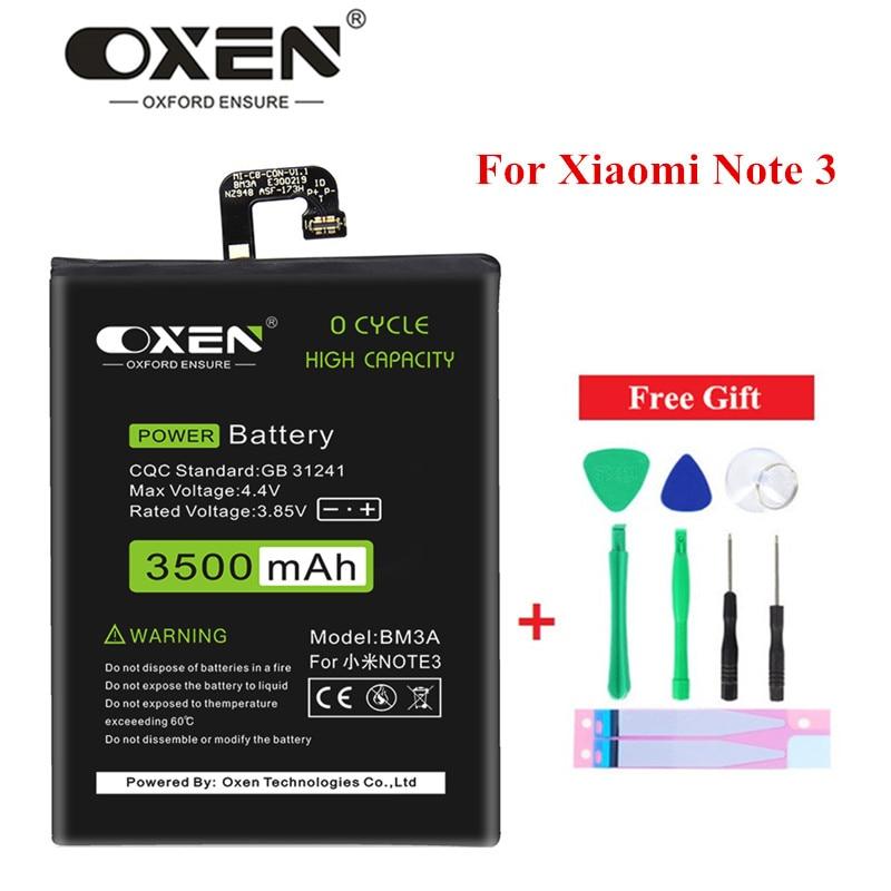 OXEN 3500mAh BM3A batería para Xiaomi mi Note 3 reemplazo de teléfono móvil Bateria de alta capacidad Batterie herramientas libres