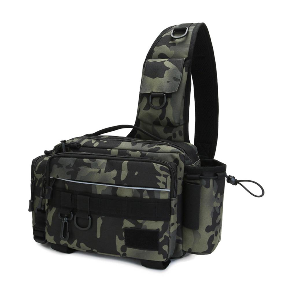 Fishing Bags Multifunctional waterproof Single Shoulder Crossbody Bag For Fishing Waist Pack Fishing Gear Utility Storage Bag