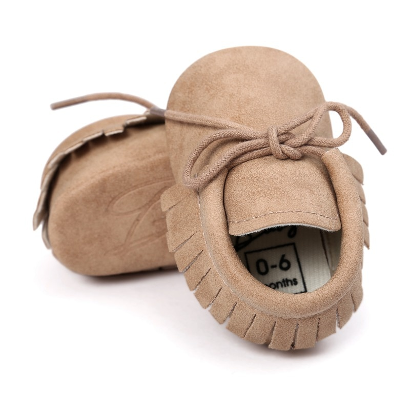 New Baby Shoes PU Leather Girls Shoes for Girls Baby Booties Baby Moccasins Fashion Fringe First Walks 0-18M 10 Colors